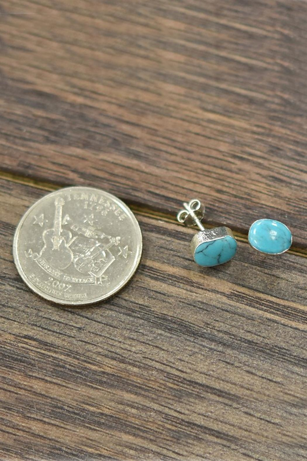 JChronicles Sterling-Silver-With Natural-Turquoise-Stone Earring - Front Full Image