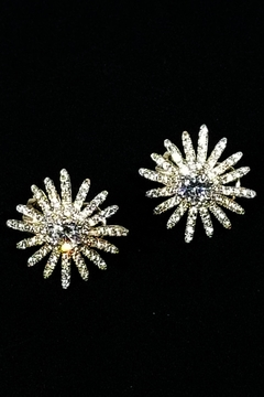 Shoptiques Product: Sterling Starburst Earrings