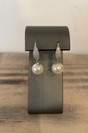 Sterling by Brooks Sterling Tear Drop Pearl Earring - Product Mini Image