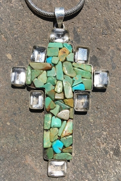 Shoptiques Product: Sterling Turquoise Cross