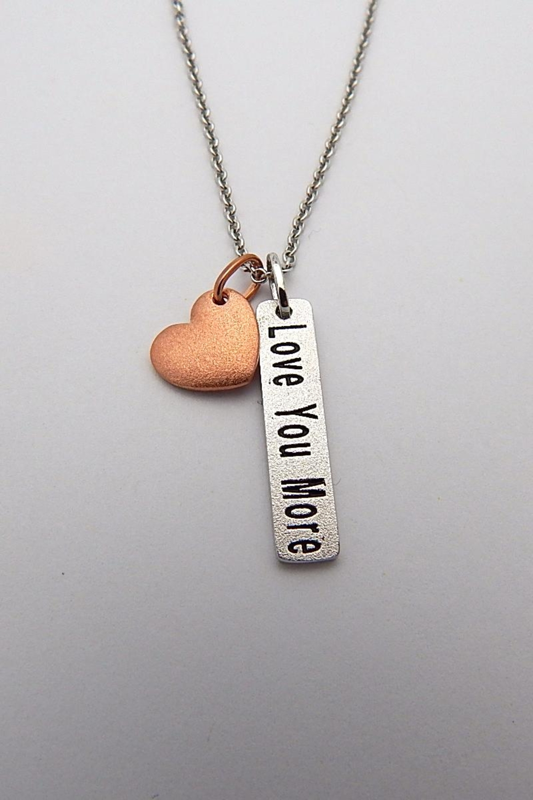 Sterling Silver Jewellery Love You More Necklace - Main Image