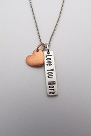 Sterling Silver Jewellery Love You More Necklace - Product Mini Image