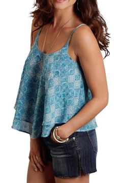 Stetson Blue Cropped Tank - Product List Image