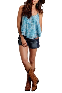 Stetson Blue Cropped Tank - Alternate List Image
