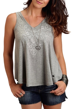 Stetson Embroidered Grey Tank - Product List Image