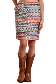 Stetson Embroidered Pencil Skirt - Product Mini Image