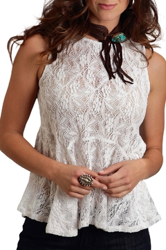 Stetson Lace Peplum Top - Product List Image