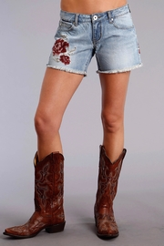 Stetson Rose Embroidered Shorts - Product Mini Image