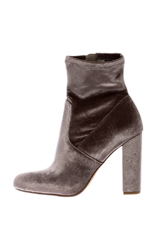 Shoptiques Product: Grey Velvet Bootie