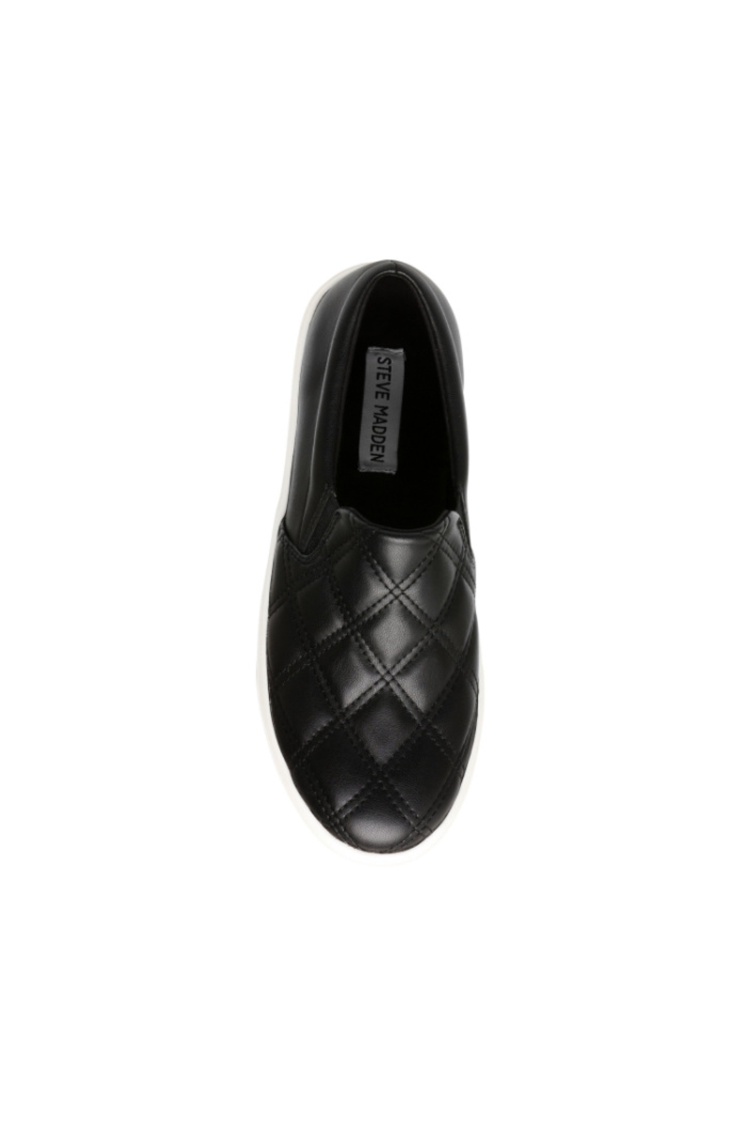 Steve Madden Women's Coulter Quilted in Black - Side Cropped Image