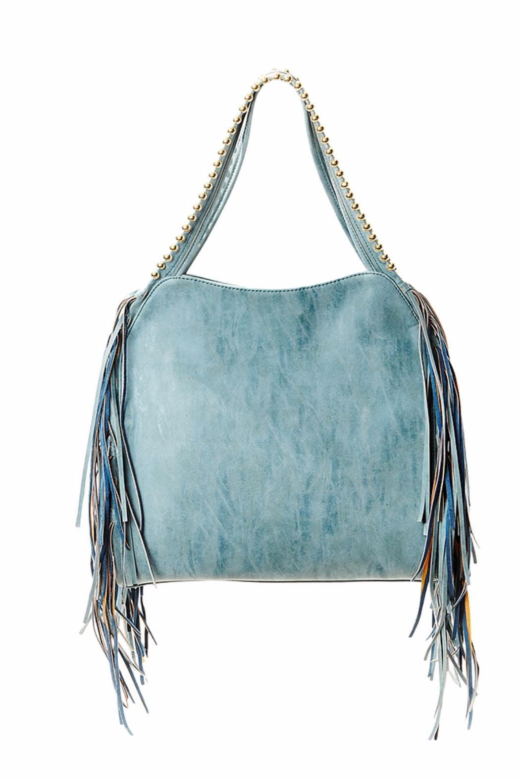 Steven By Steve Madden Leather Fringe Bag Front Full Image