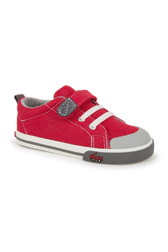 Shoptiques Product: Stevie II Red/Grey Sneaker