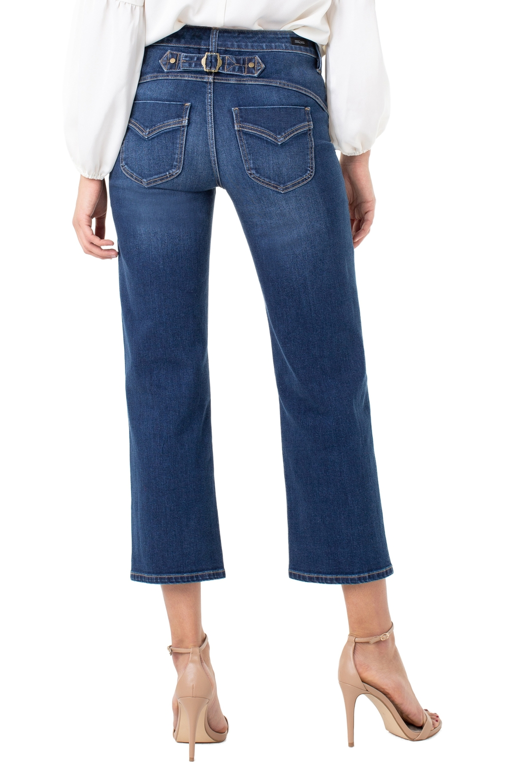 Liverpool Jean Company Stevie Stovepipe with Back Cinch - Side Cropped Image