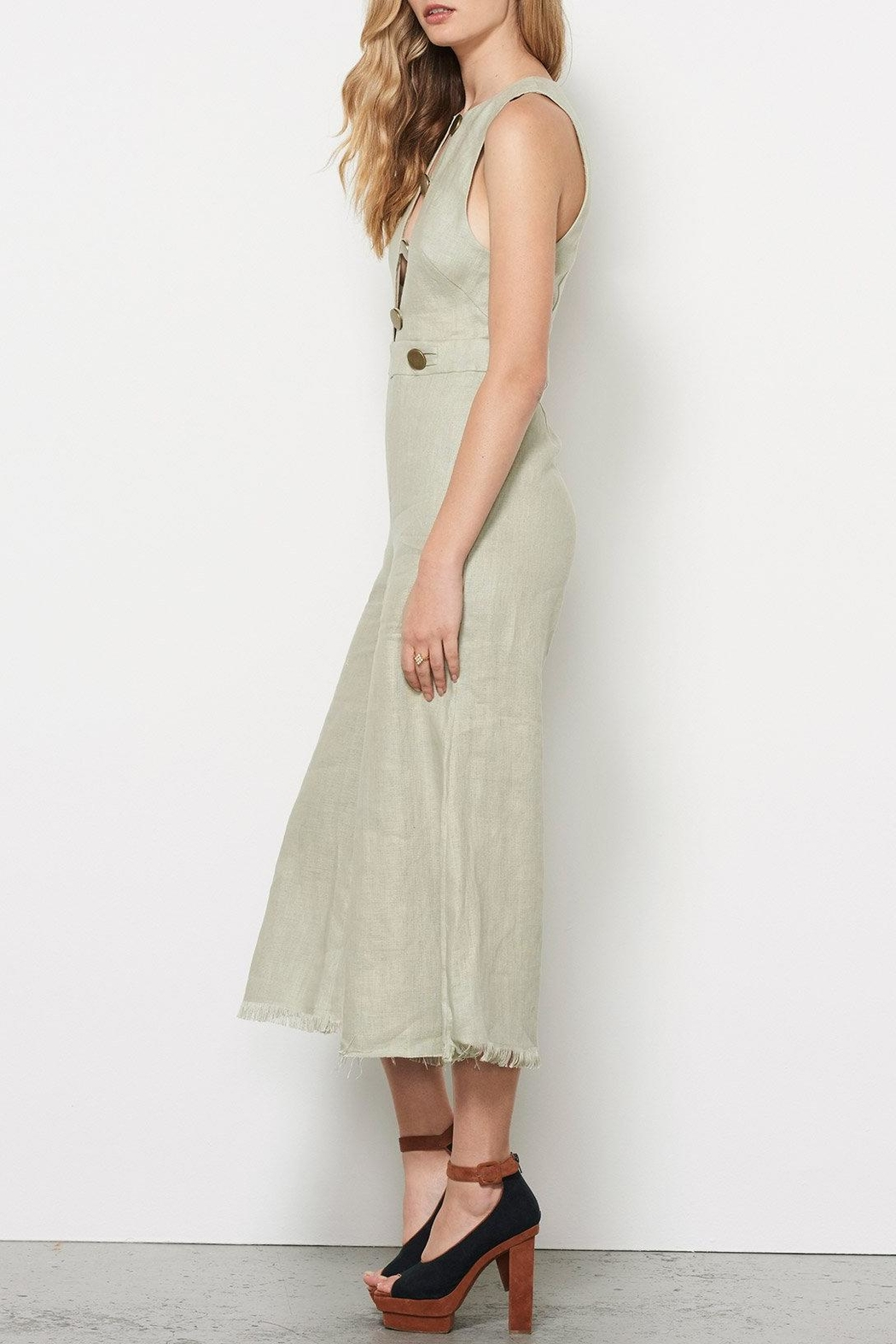 Stevie May Linen Jumpsuit - Side Cropped Image