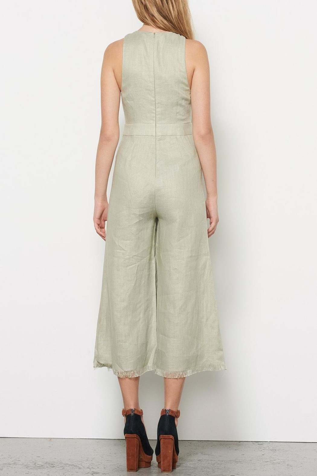 Stevie May Linen Jumpsuit - Back Cropped Image