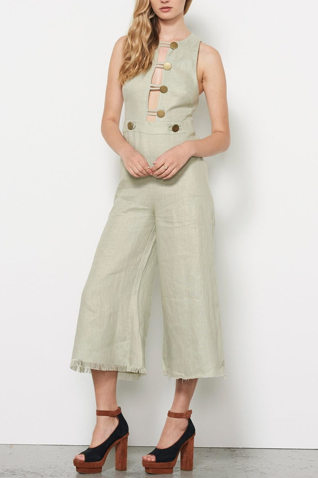 Stevie May Linen Jumpsuit - Front Full Image