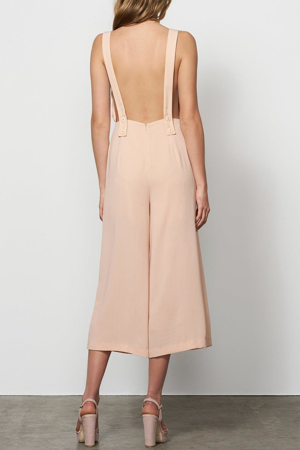 Stevie May Wide Leg Overalls - Side Cropped Image