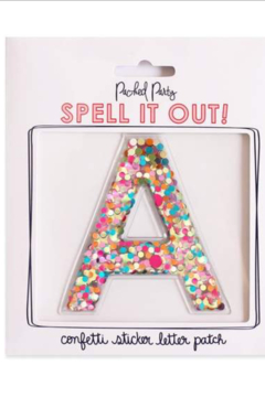 Packed Party Stick To It Confetti Letters - Product List Image