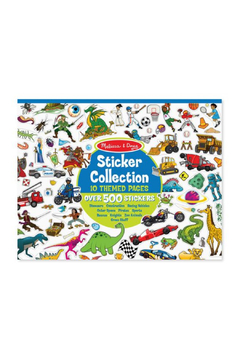 Melissa and Doug Sticker Collection Book 500+ Stickers: Dinosaurs, Vehicles, Space, and More - Alternate List Image