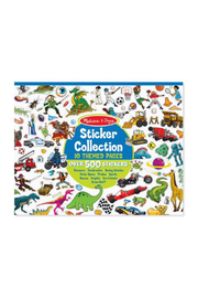 Melissa and Doug Sticker Collection Book 500+ Stickers: Dinosaurs, Vehicles, Space, and More - Product Mini Image