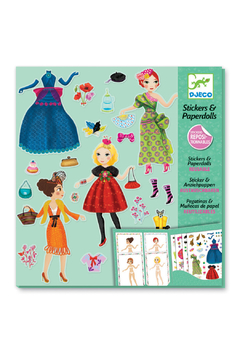Djeco Stickers & Paper Dolls Fashion Activity Kit - Product List Image