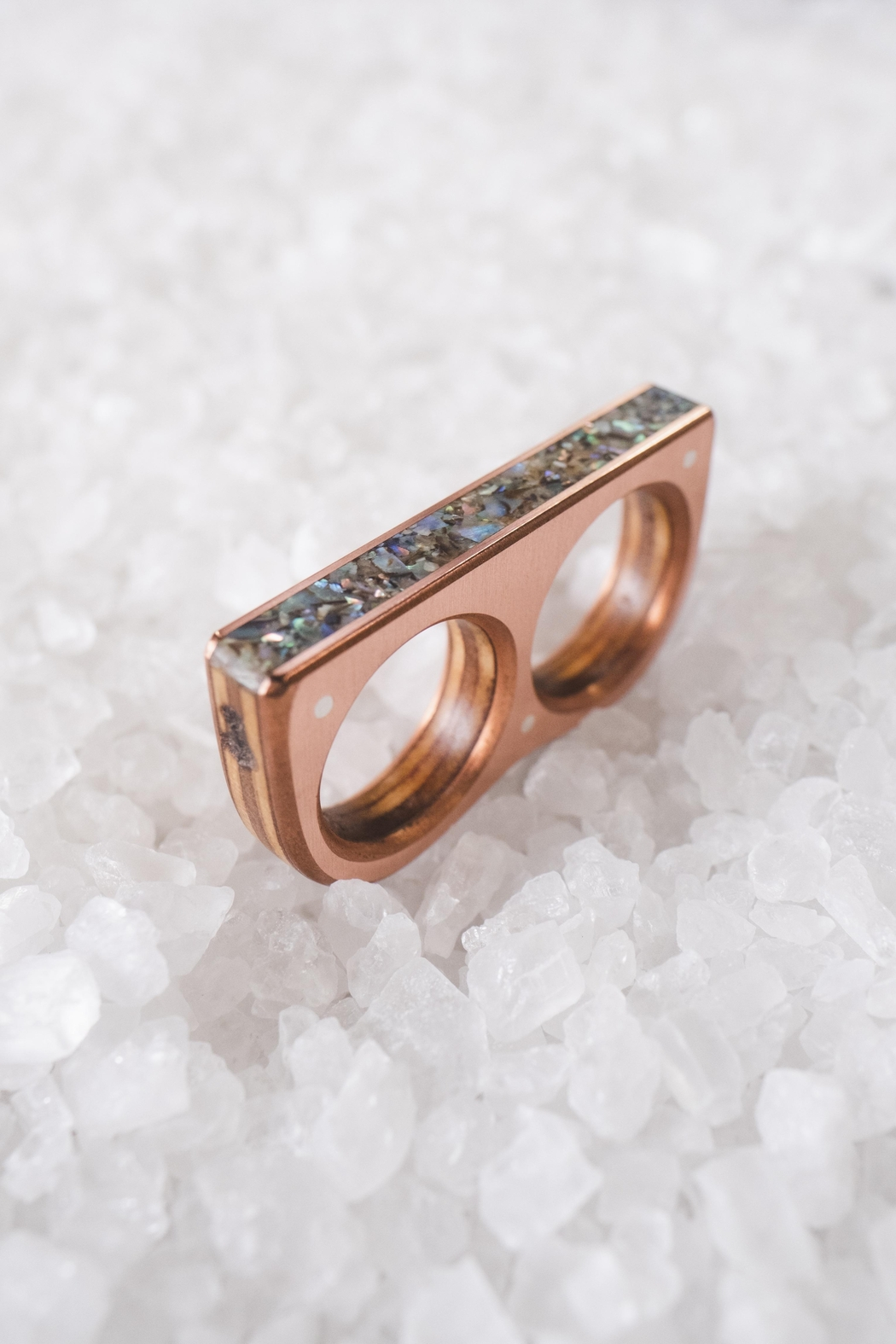 Sticks & Stones Accessories Abalone Two Finger Ring - Main Image