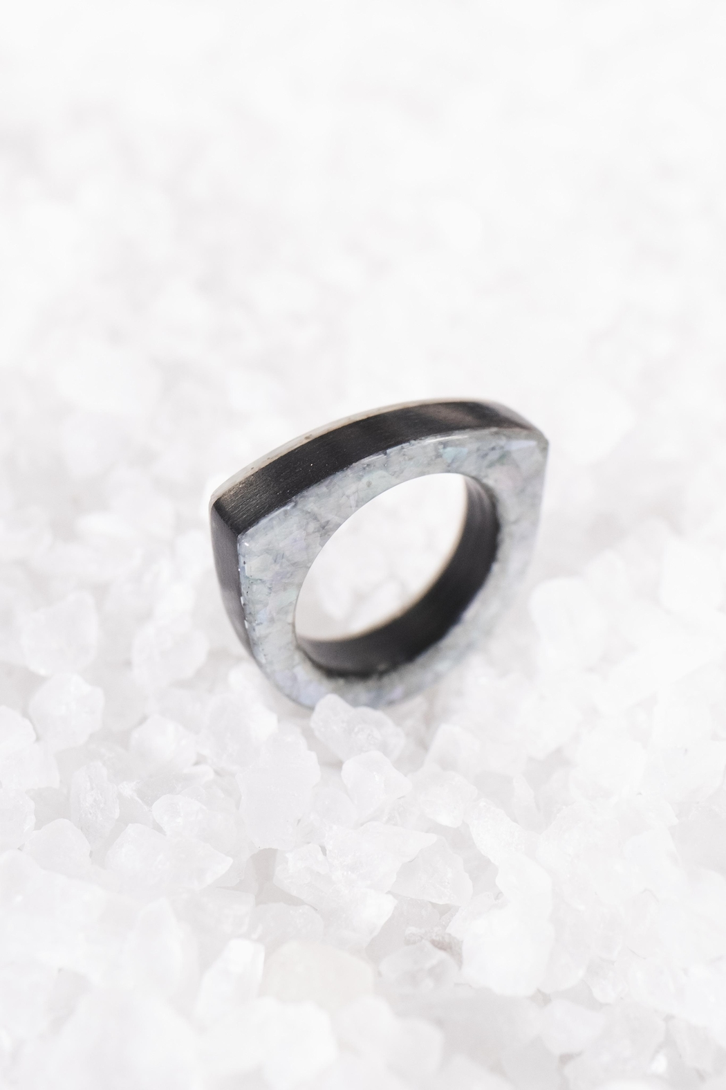 Sticks & Stones Accessories Ebony Mother-Of-Pearl Ring - Main Image