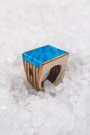Sticks & Stones Accessories Blue Coral Ring - Front cropped
