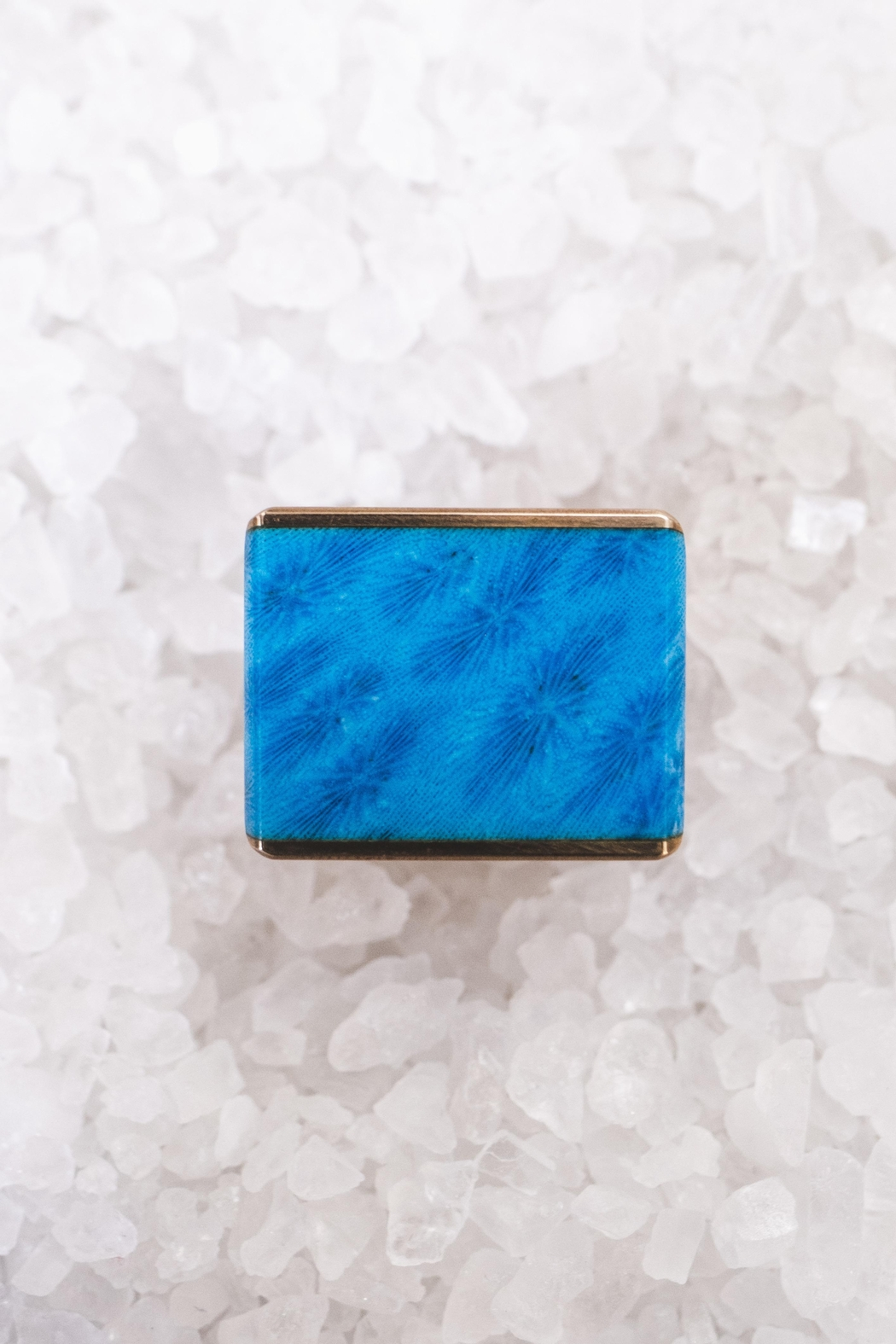 Sticks & Stones Accessories Blue Coral Ring - Front Full Image