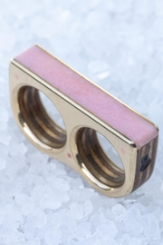 Sticks & Stones Accessories Pink Opal Two-Finger-Ring - Product Mini Image
