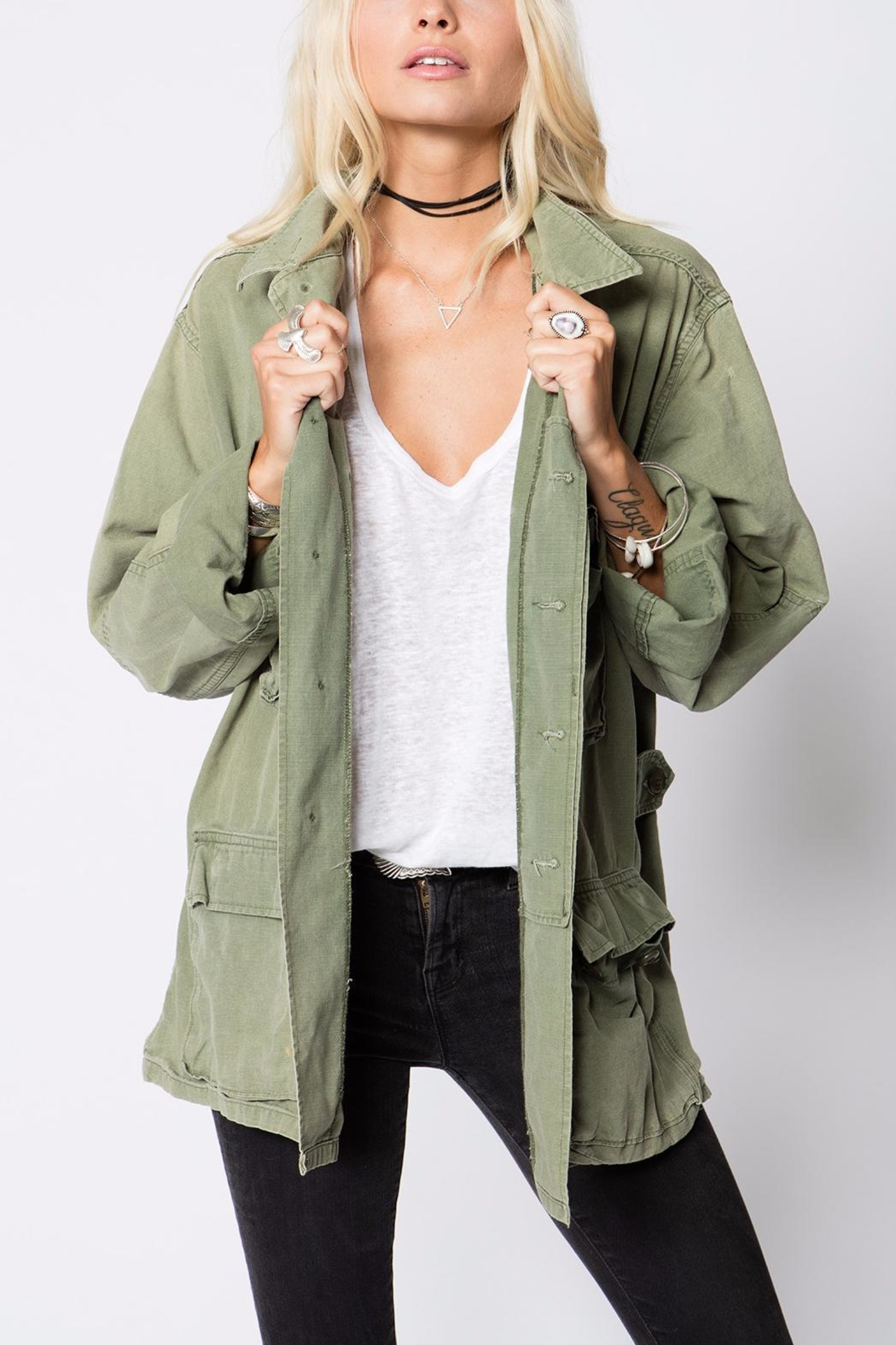 Stillwater Oversized Military Jacket - Front Cropped Image