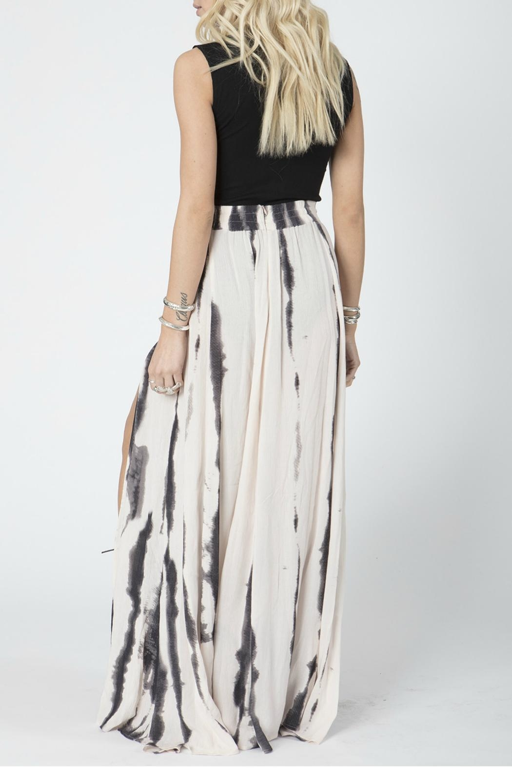 Stillwater Slate Tie Dye Skirt - Side Cropped Image