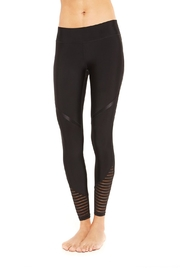 Terez Stiped Mesh Leggings - Product Mini Image