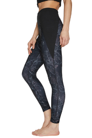 Betsey Johnson Stipple Floral Print High Rise 7/8 Legging - Front full body