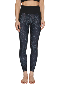 Betsey Johnson Stipple Floral Print High Rise 7/8 Legging - Product List Image