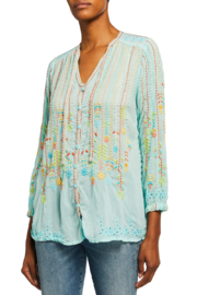 Johnny Was Stitch Blouse - Front cropped