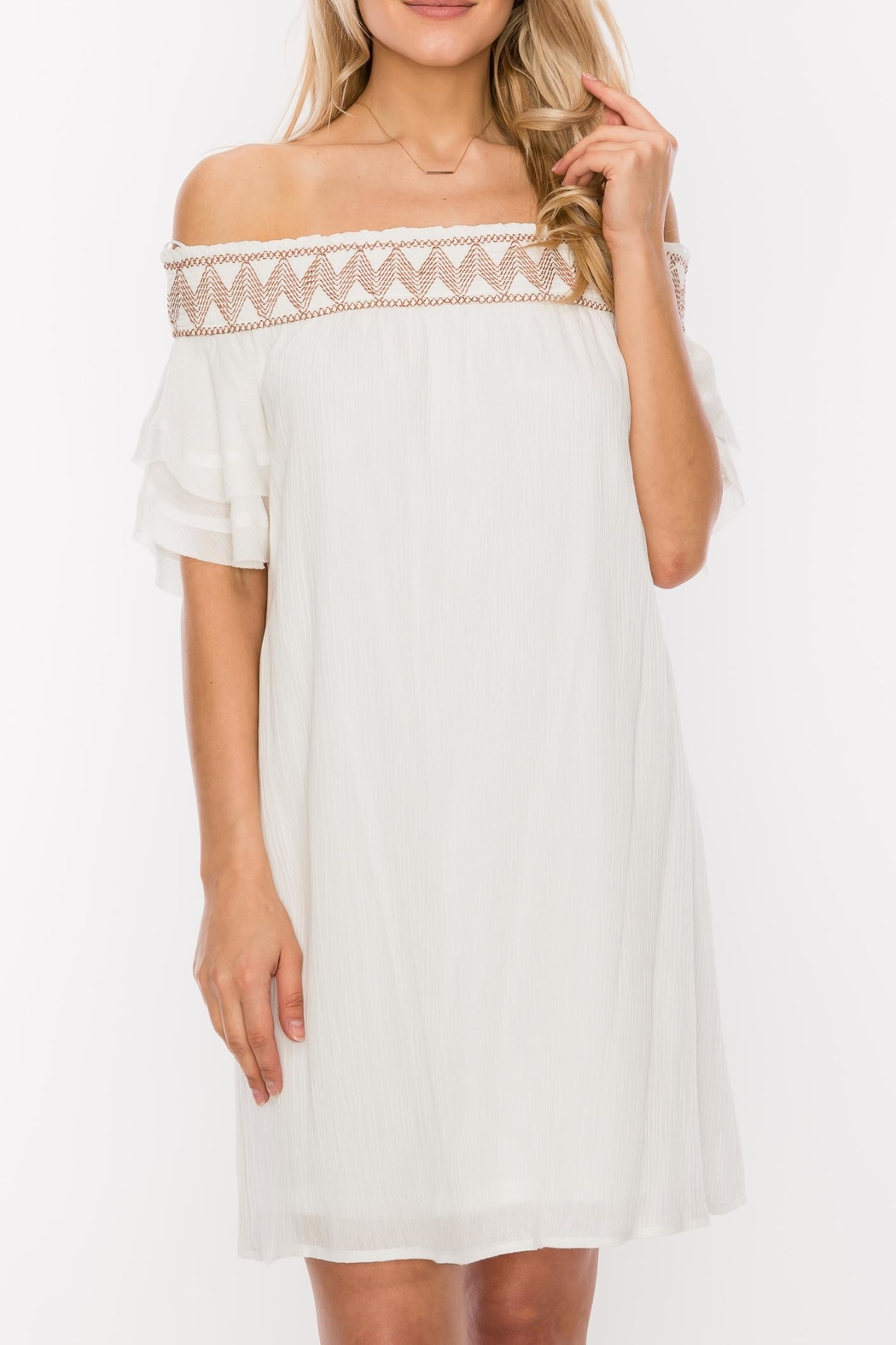 HYFVE Stitch Embroidered Dress - Front Cropped Image