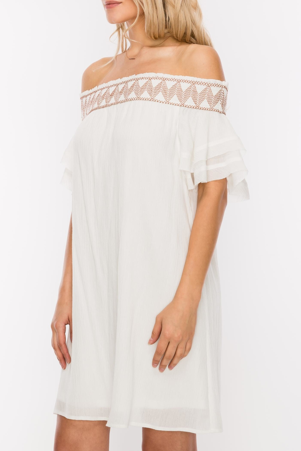 HYFVE Stitch Embroidered Dress - Side Cropped Image