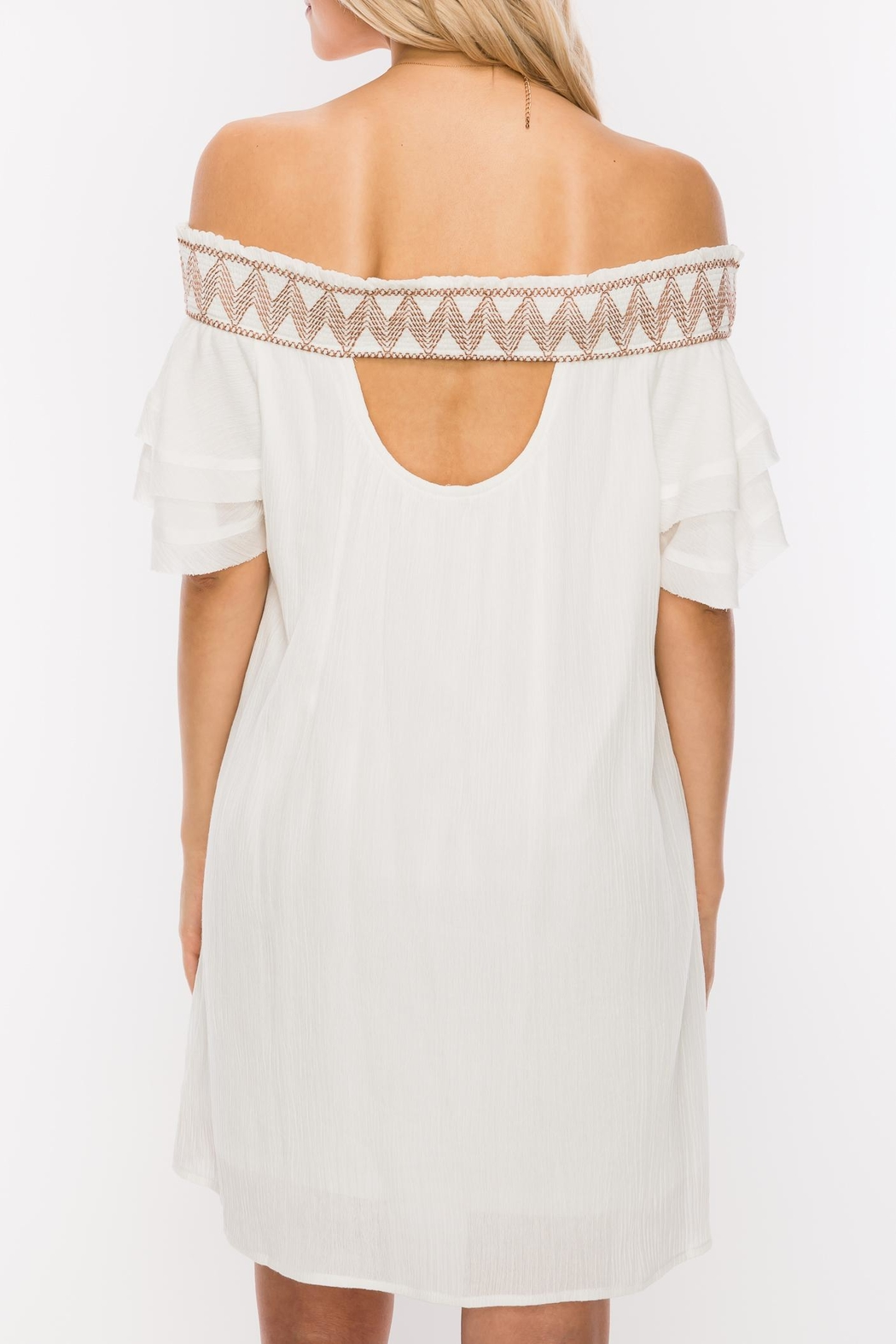 HYFVE Stitch Embroidered Dress - Front Full Image