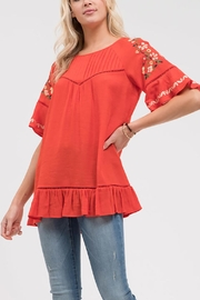 Blu Pepper Stitch Embroidered Shirt - Front cropped