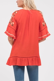 Blu Pepper Stitch Embroidered Shirt - Side cropped