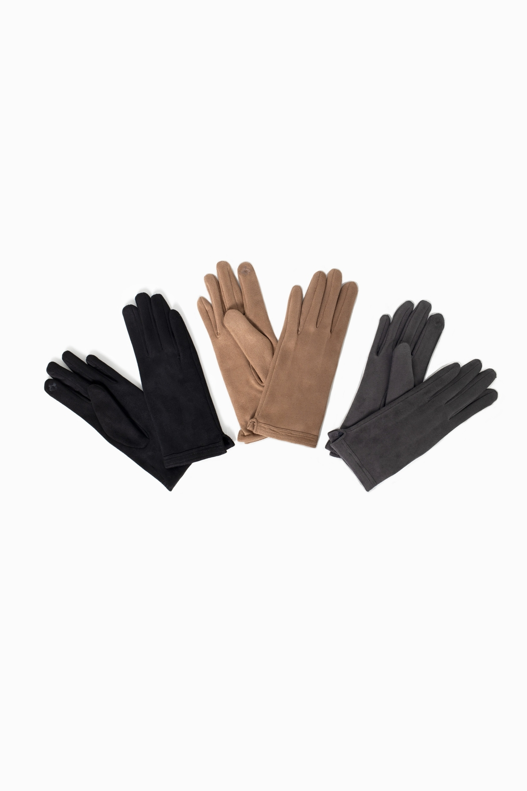 Look by M  Stitch Point Suede Glove - Front Cropped Image