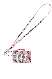 Vera Bradley Stitched Flowers Lanyard/zip-Id - Product Mini Image