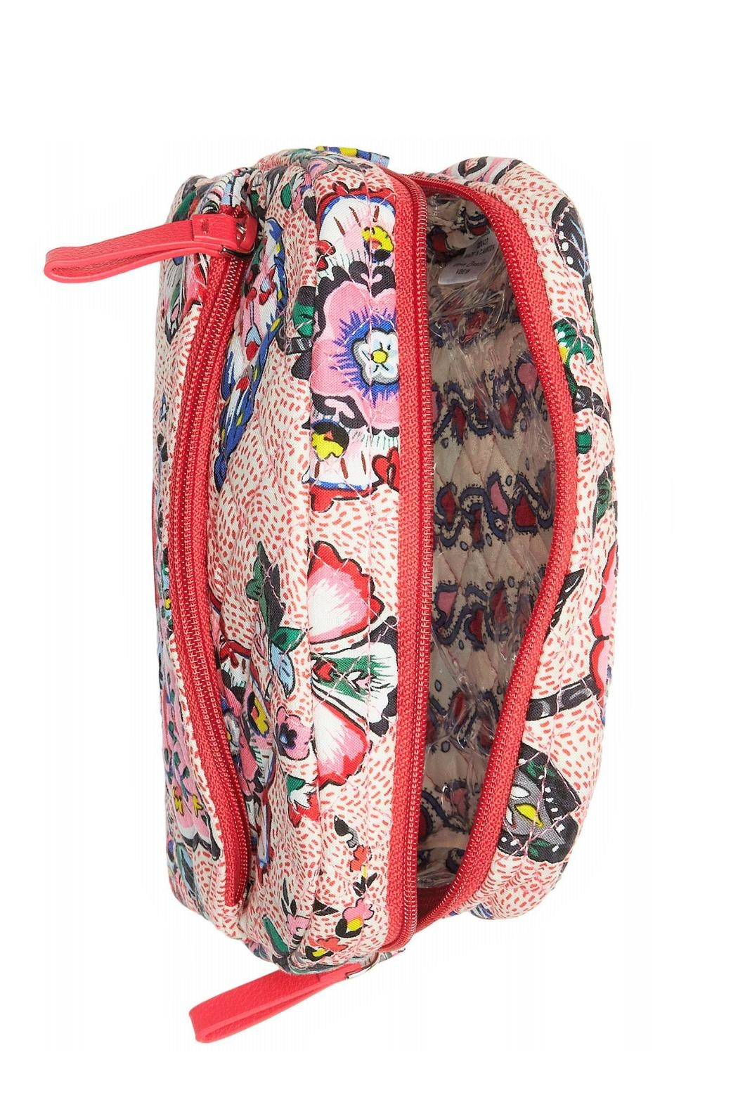Vera Bradley Stitched Flowers Medium-Cosmetic - Side Cropped Image