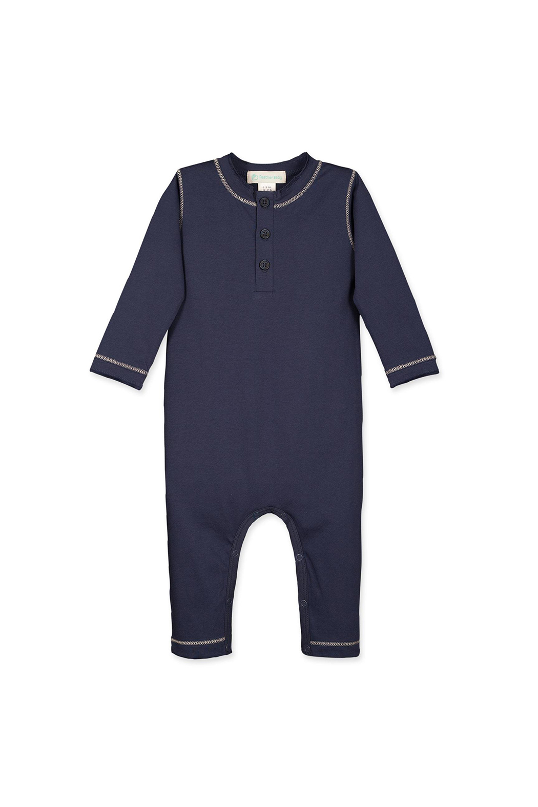 Feather Baby Stitched Henley Long Johns - Main Image