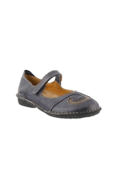 Spring Footwear Stitched Leather Mary-Jane - Front cropped