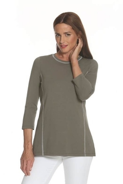 Eli Stitched Lines Top, Sage or Pink - Product List Image