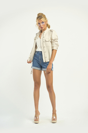 Dex Stone Cargo Jacket - Front cropped
