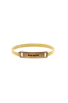 Shoptiques Product: Hand Stamped Brass Cuff