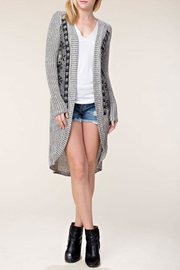 Vocal Apparel Stone Detail Cardigan - Side cropped
